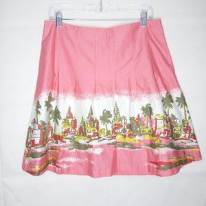 Old Navy A-Line Skirt Women Size 8 Pink Cotton
